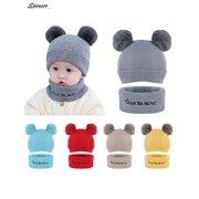 f03c98442de Spencer Baby Winter Warm Pom Pom Beanie Hat Scarf Set