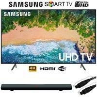 "Samsung UN75NU7100 (UN75NU7100FXZA) 75"" NU7100 Smart 4K UHD TV (2018) w/ Sound Bar Bundle"