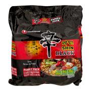 Nongshim Spicy Pot-au-feu Flavor Shin Black Noodle Soup, 4.58 oz, (Pack of 4)