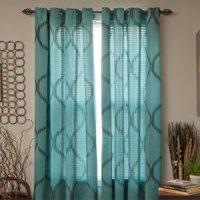 Somerset Home Metallic Window Panel Grommet Curtains, Set of 2
