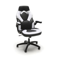 OFM Essentials Racecar Style Leather Gaming Chair, (ESS-3085), White
