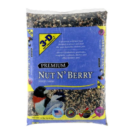 Mix Bird Food - 3-D Pet Products Premium Nut N' Berry Dry Wild Bird Food, 14 LB