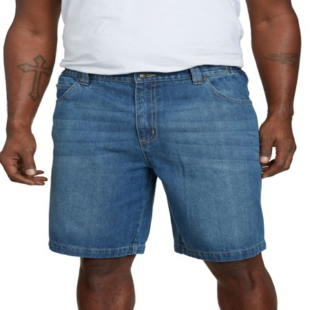 Liberty Blues Men's Big & Tall 5 Pocket Denim Shorts Denim Five Pocket Shorts