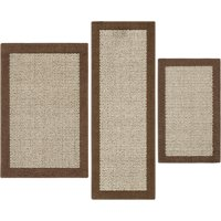 Mainstays Faux Sisal 3-Piece Accent Rug Set, Multiple Colors