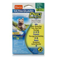 Hartz UltraGuard Pro Flea & Tick Drops For Small Dogs And Puppies 1-30lbs, 3 Monthly Treatments