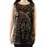 ea9ef4cf892 INC NEW Shimmer Gold Womens Size Large L Sequined Velvet Tank Top