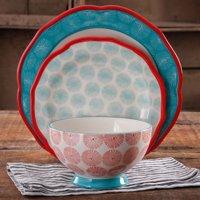 The Pioneer Woman Scalloped 12-Piece Dinnerware Set, Walmart Exclusive