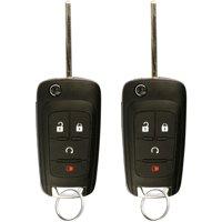 2 PACK KeylessOption Keyless Entry Remote Control Car Uncut Flip Key Fob Replacement OHT01060512 for 2010-2016 Chevy Equinox Impala Sonic GMC Terrain