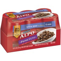 Purina ALPO Prime Cuts with Beef Wet Dog Food, 13.2 Oz. (Case of 6)
