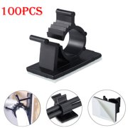 47e43290003d ESYNIC 100pcs cable clamps Self-Adhesive Wire Cable Tie Clamp Sticker Clip  Holder Fixer 10mm