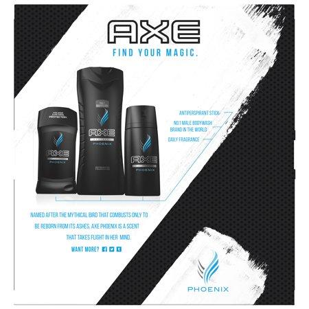 Kouros Set - AXE Regimen Gift Set for Men Phoenix 3 pc