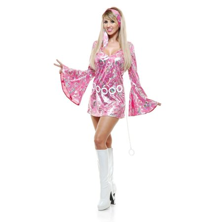 Halloween Disco Doll Adult Pink - Dark Disco Halloween