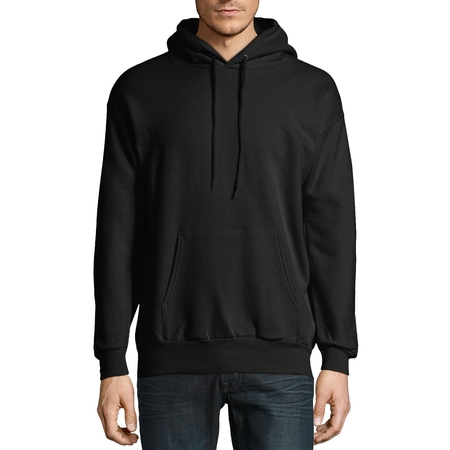 Hooded Fleece Sweatshirt Jacket - Hanes Big & Tall Men's EcoSmart Fleece Pullover Hoodie with Front Pocket