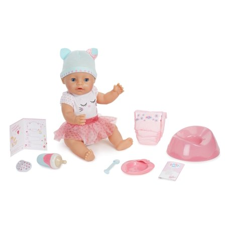 Baby Born Interactive Doll Blue Eyes Walmart Com