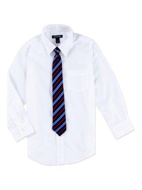 George Boys Packaged Dress Shirt-Tie Husky