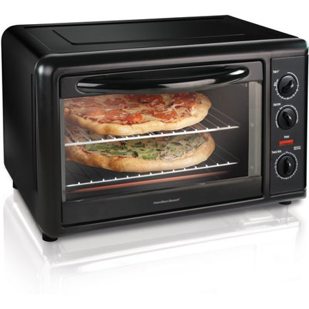 Convection Double Range (Hamilton Beach Black Countertop Oven with Convection & Rotisserie, Model# 31101 )