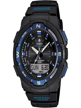Men's Twin Sensor Watch, Blue Accents