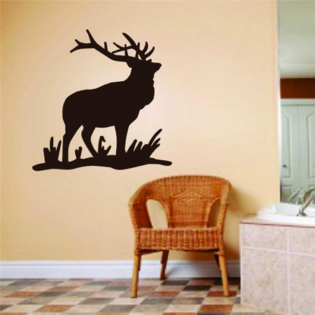 Wall Design Pieces Deer Animal Hunting Hunter Man Gun Boys Kids Bed Room Sports 10 X 10 Inches