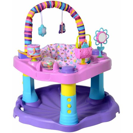 Evenflo Exersaucer Bounce and Learn Sweet Tea, (Bright Starts Bounce Bounce Baby Activity Station)