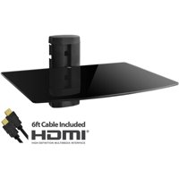 Onn Adjustable Shelf For Dvd Player, Cable Box/Receiver And Gaming Consoles With Hdmi Cable, Ul Certified