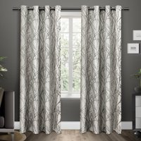 Exclusive Home Curtains 2 Pack Branches Linen Blend Grommet Top Curtain Panels