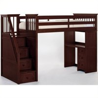 Hillsdale School House Stair Loft With Desk End, Cherry
