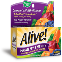 Natures Way Alive! Womens Energy Multivitamin Supplement Tablets 50 Count