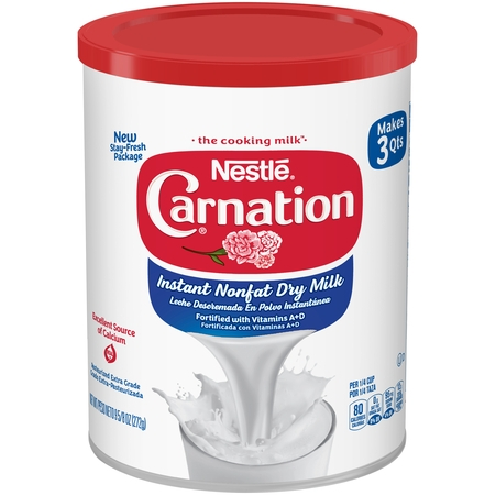 (2 pack) Carnation Instant Nonfat Dry Milk 9.63 oz, Canister ()