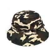 b66ae0c12e99b Outdoor Hunting Fishing Hiking Sun Camouflage Print Wide Brim Bucket Hat Cap