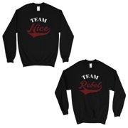 f72534090 Team Nice Team Rebel Cute Christmas Sweatshirts Best Friends Gifts
