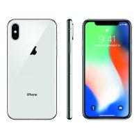 Refurbished Apple iPhone X 64GB Silver LTE Straight Talk MQA62LL/A