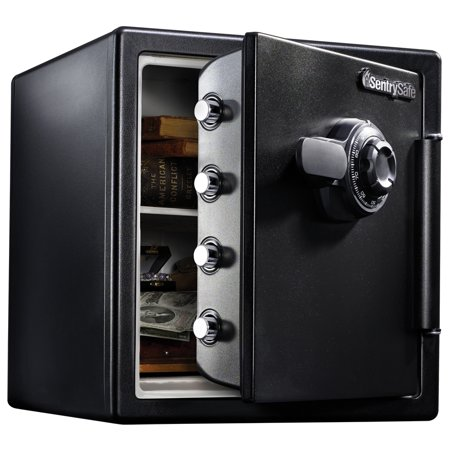 SentrySafe SFW123CS Fire-Resistant Safe and Waterproof Safe with Dial Combination 1.23 cu ft - Tubular Body Floor Safe