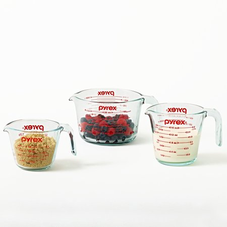 Pyrex Glass 3-Piece Measuring Cup Set (Best Dry Measuring Cups)