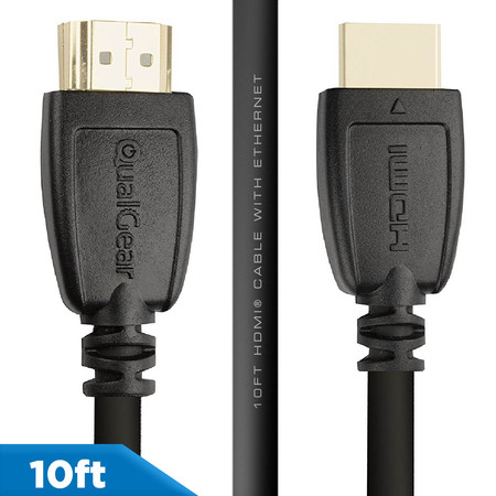 QualGear 10' High-Speed HDMI 2.0 Cable with (Long Length Hdmi Cables)