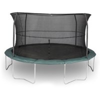 JumpKing Advanced 14-Foot Trampoline, with Enclosure, Dark Green