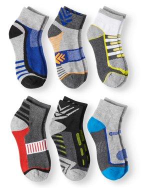 Athletic Performance Ankle Socks, 6 Pairs (Little Boys & Big Boys)