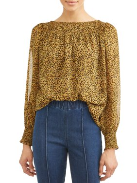 Women's Sonny Gathered Neck and Sleeve Blouse