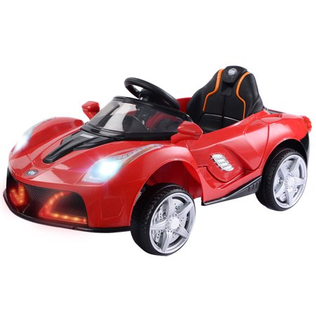 12v Battery Powered Kids Ride On Car Rc Remote Control W Led Lights