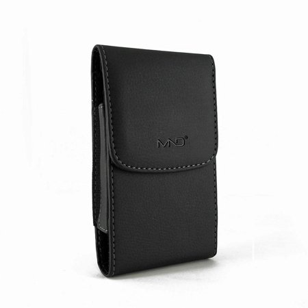 Blackberry Belt Case (BlackBerry DTEK60 Pouch, Vertical Leather Case Belt Clip Pouch Holster Sleeve for BlackBerry DTEK60 (Perfect Size for Phone Only, NOT for Phone w/Cover or Skin on ))