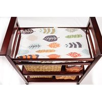 Leaf Pattern Changing Pad Cover by Danha