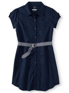 Wonder Nation Girls' School Uniform Shirt Dress