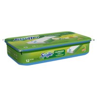 Swiffer Sweeper Wet Mopping Pad Multi Surface Refills for Floor Mop, Gain scent, 12 Count