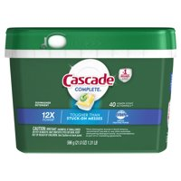 Cascade Complete ActionPacs Dishwasher Detergent, Lemon Scent, 40 count