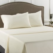 Mainstays 200 Thread Count Twin Fitted Sheet Ivory, 1 Each