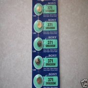 Sony Watch Battery Button Cell SR920SW 371 Pack of 5 Batteries