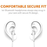 Ixir ZTE Avid Plus Bluetooth Headset In-Ear Running Earbuds IPX3 Water Resistant with Mic Stereo Earphones, CVC 6.0 Noise Cancellation, works with, Samsung,Google Pixel,Lg