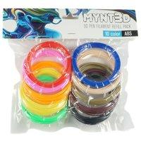 MYNT3D ABS 3D Pen Filament Refill Pack 10 Color