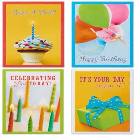 American Greetings 12 Count Happy Birthday Cards and Envelopes, Assorted (Custom Musical Greeting Card)