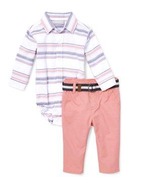 Striped Woven Pant Set (Baby Boys)