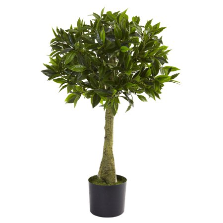 Bay Leaf Tree - Nearly Natural 3' Bay Leaf Topiary, UV Resistant, Indoor and Outdoor